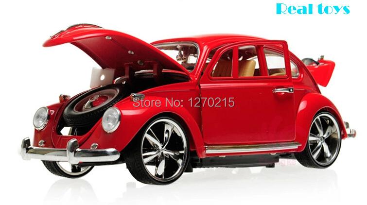 Hot sale classical alloy model car scale models 1/18 vw beetle classic 1pcs(China (Mainland))