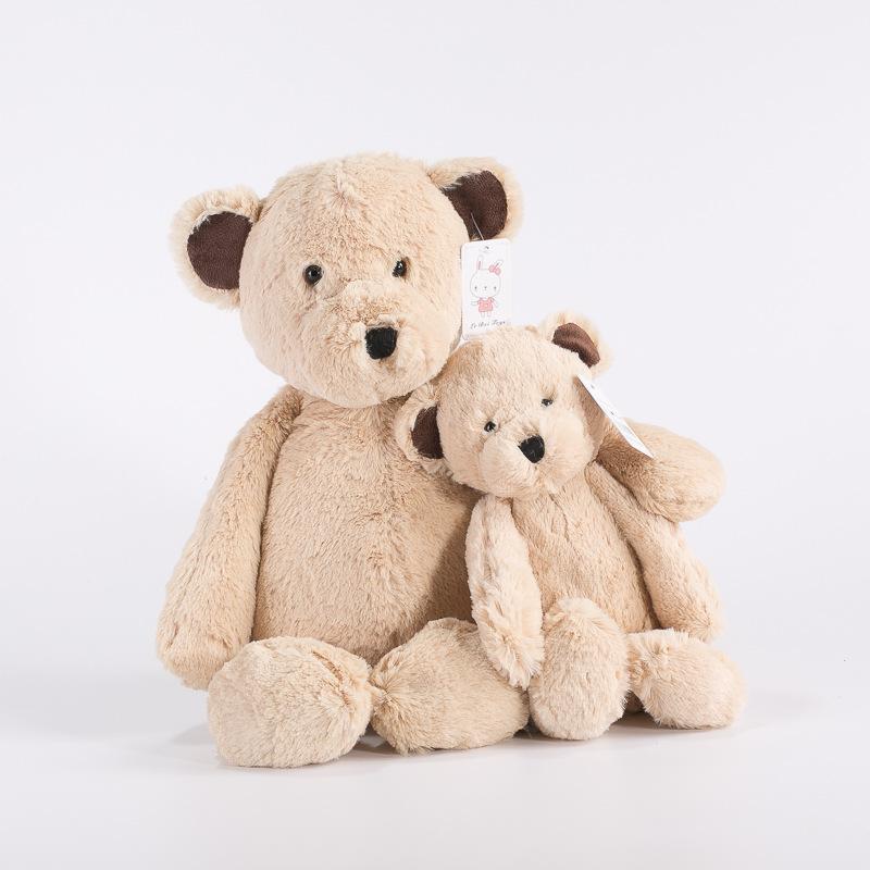 25cm Kawaii Soft brown Bears Plush Toys Stuffed Couple Bears Soft Kids Toys Baby Huggable Dolls Children Girls New Year Gifts(China (Mainland))