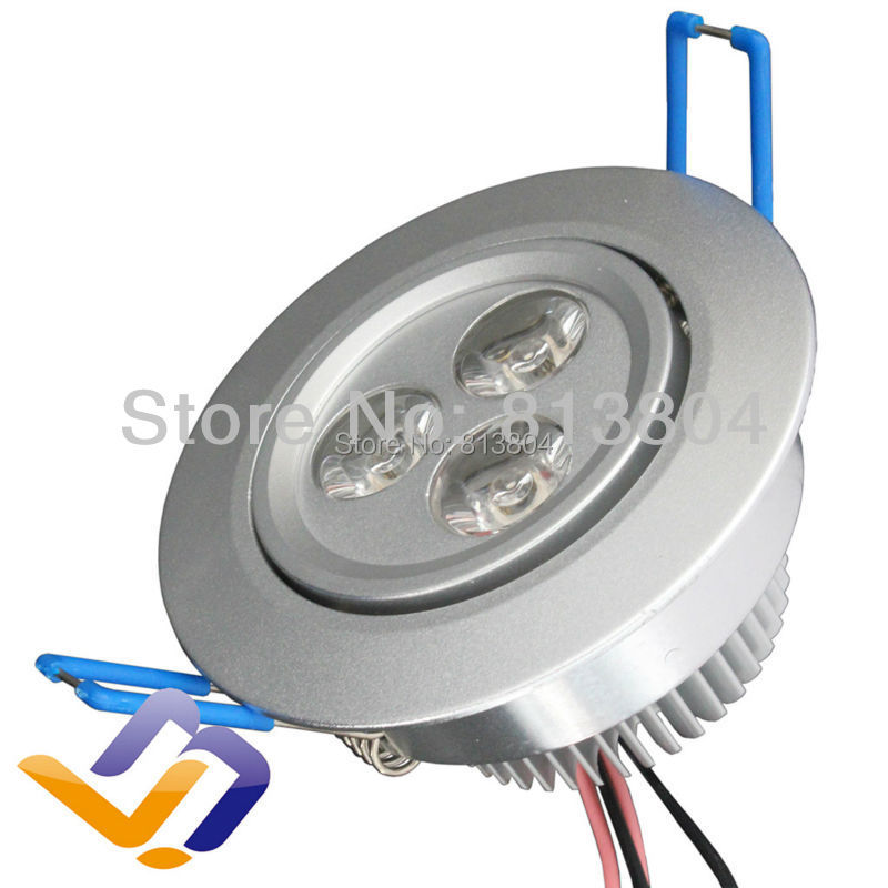 AC85-265v surface mounted led ceiling lamp recessed down light lamp 3x1w downlights led indoor white(China (Mainland))