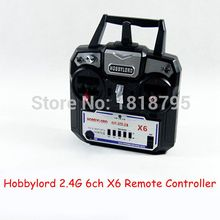 (CFQ) Hobbylord 2.4G 6ch X6 Remote Controller For drone RC Helicopter Plane Quadcopter Glider Transmitter and receiver