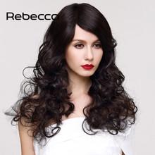 "Rebecca Wavy Human Hair Wigs on Aliexpress UK Brazilian Virgin Hair Wig Lace Front Human Hair Wigs 20"" Wigs for Black Women(China (Mainland))"