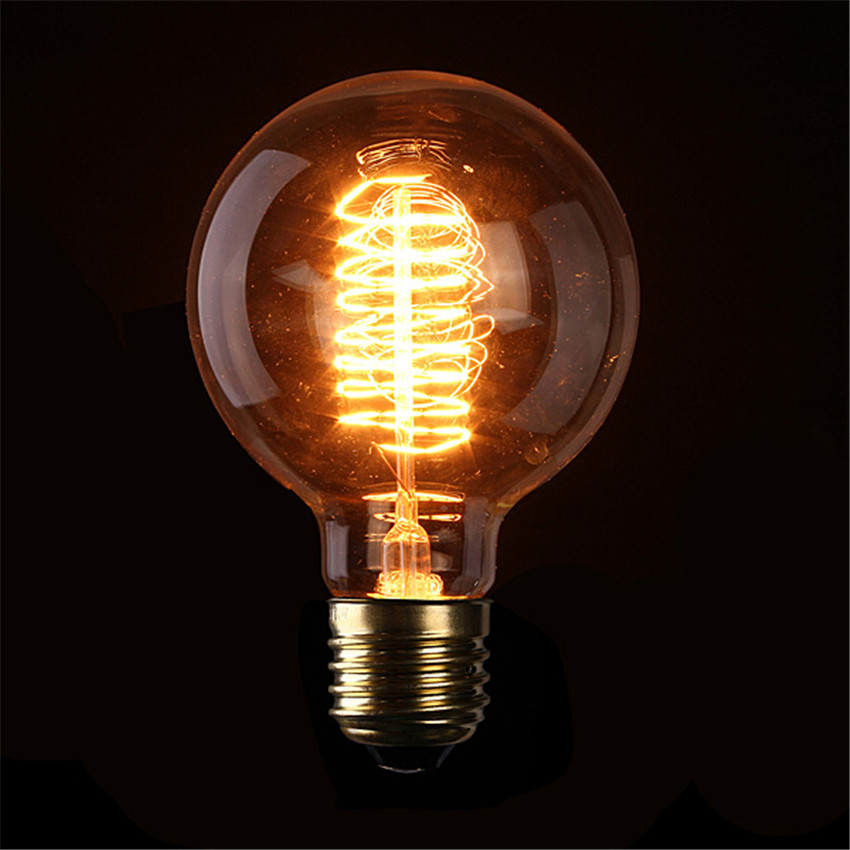 G95 500lm Antique Vintage Edison light Bulb 40W 220V/110v radiolight Large Squirrel cage Tungsten home decoration Drop Shipping(China (Mainland))