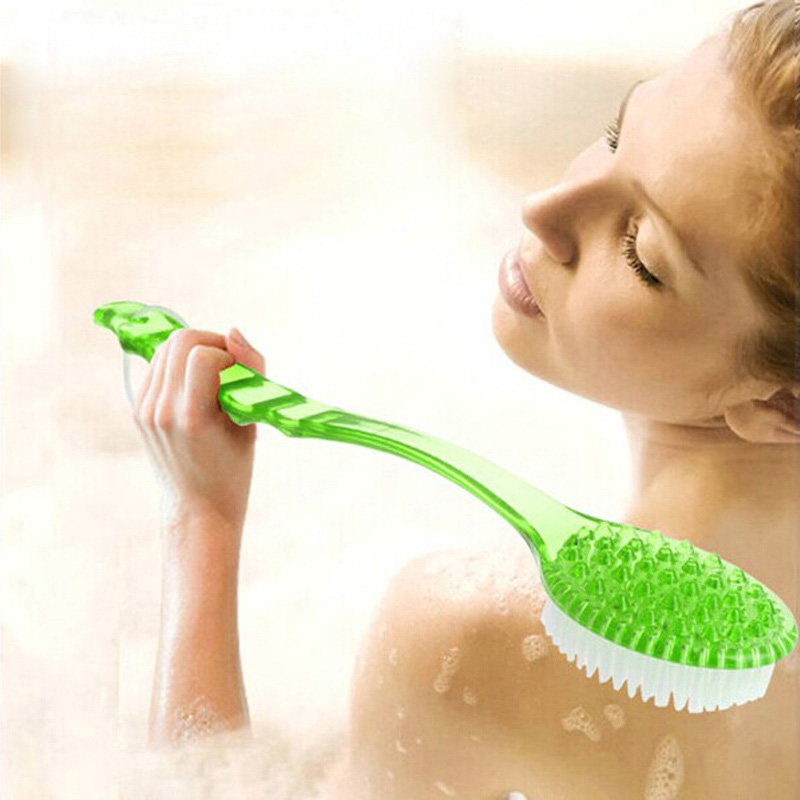 Bath Brush Long Handle Exfoliating Back Brush Body Scrubber Shower Bath Brushes Rubbing Scrubber Spa Massager Bathroom Products(China (Mainland))