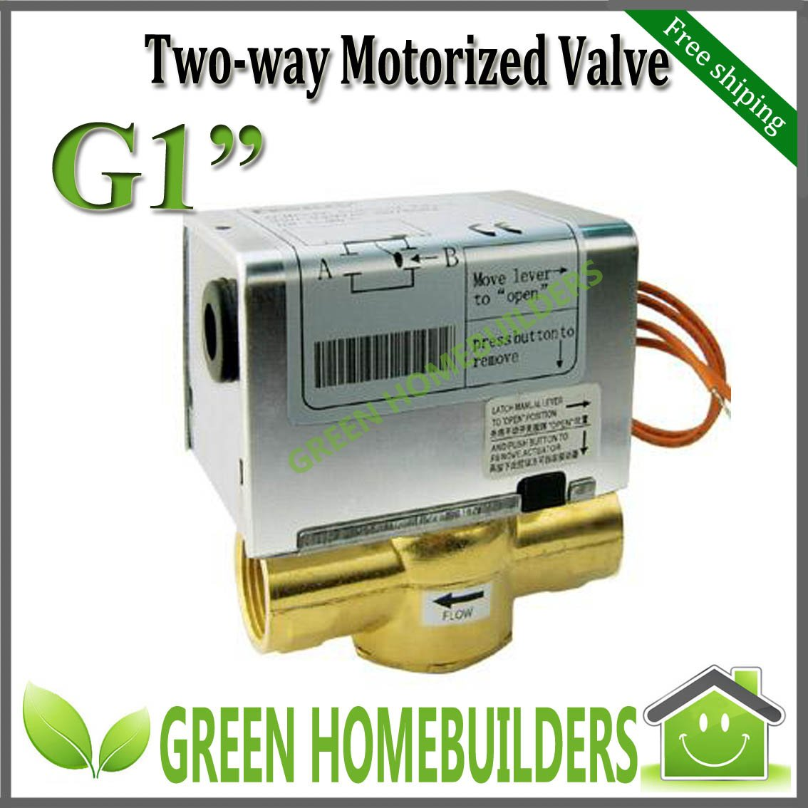 2pcs lot g1 two way electric motorized valve 220 240vac50