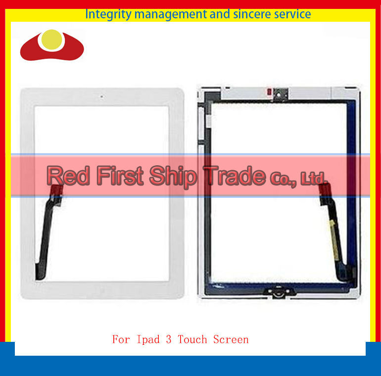 Гаджет  DHL For Ipad 2 3 4 Front Touch Screen Digitizer Home Button Complete Assembly  White and Black Color . None Компьютер & сеть