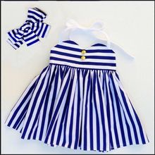 Buy New Fashion Children Girls Kids Dresses Princess Party Striped Headband Blue Tulle Ball Tutu Dress Girl 1 2 3 4 5Y for $4.10 in AliExpress store