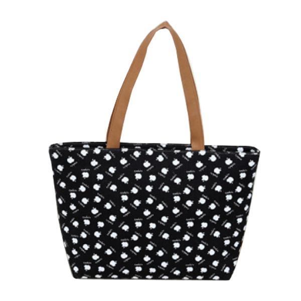 Free shipping Apple alphabet canvas Bag ladies' Handbag fashion handbag Z5(China (Mainland))