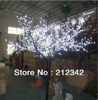 LED Cherry Tree Light/1728pcs LEDs/2.5m Height/2m Wide/White/Fedex Free Shipping to US/Canada/Europe/Southeast Asia/Japan/Korea