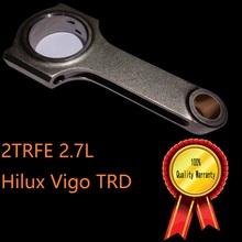 Buy 2TRFE head engine crankshaft piston forging parts bolts size 3 8 steel best design h beam rod connecting Hilux Vigo TRD for $59.99 in AliExpress store