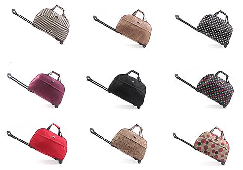2014 New arrivals women travel luggage bag wheels female trolley bags draw-bar men handbag