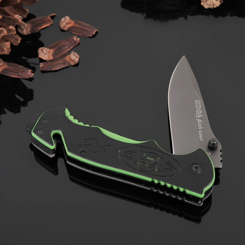 Buy HOT Sale Folding Blade Knife G10+Steel Handle SOG Pocket Survival Knives Hunting Tactical Knifes Camping Outdoor Tools s001 cheap