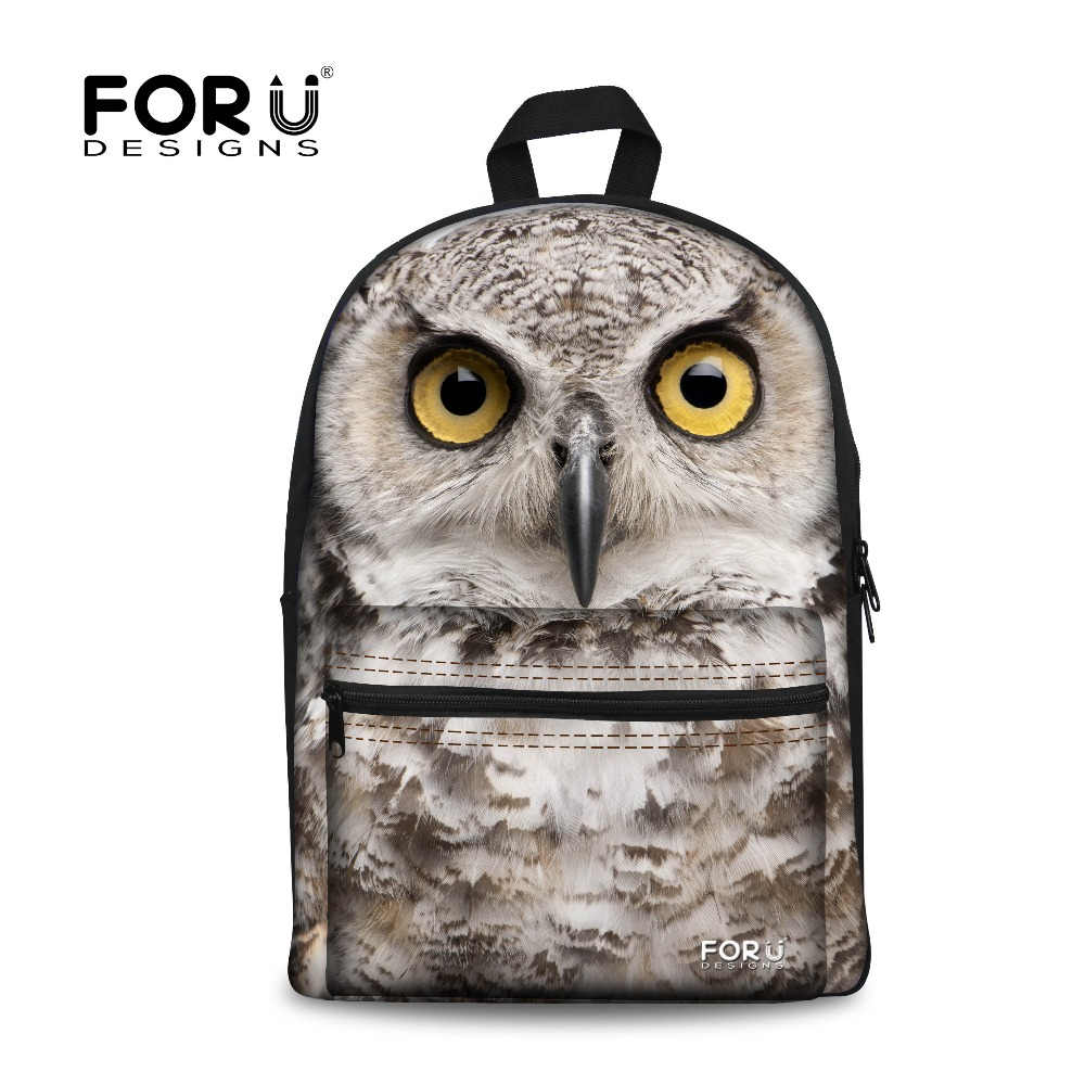 Brand Fashion Animal Zoo Children School Backpack Owl Tiger Horse Print Casual Teenager Boys Kids Backpack Cool Rucksack Mochila<br><br>Aliexpress