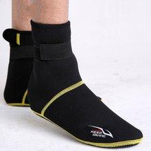 Açık neopren dalış dalış ayakkabı çorap 3mm plaj botları Wetsuit Anti çizikler ısınma Anti kayma kış mayo(China)