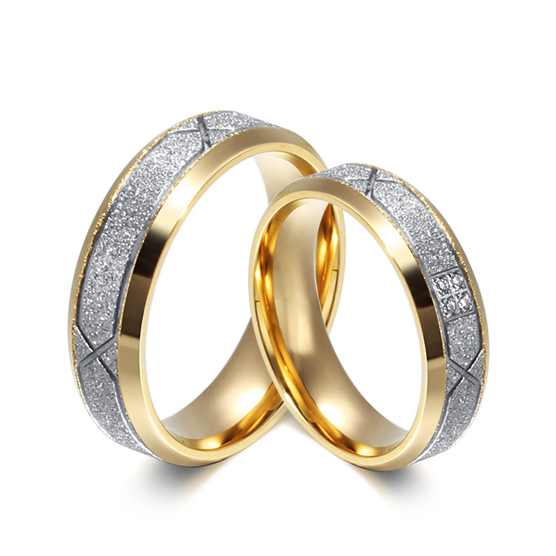 Love Ring for Lover Couple Quality CZ Diamond Engagement Ring 18K Gold Plated Stainless Steel Ring for Women and Men Utr8096(China (Mainland))