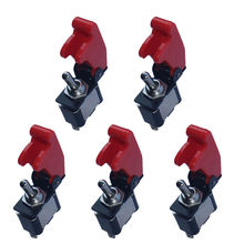 EE support 5 X 12V 20A Red Cover Rocker Toggle Switch SPST ON/OFF Auto Car Truck Boat 2Pin XY01(China (Mainland))