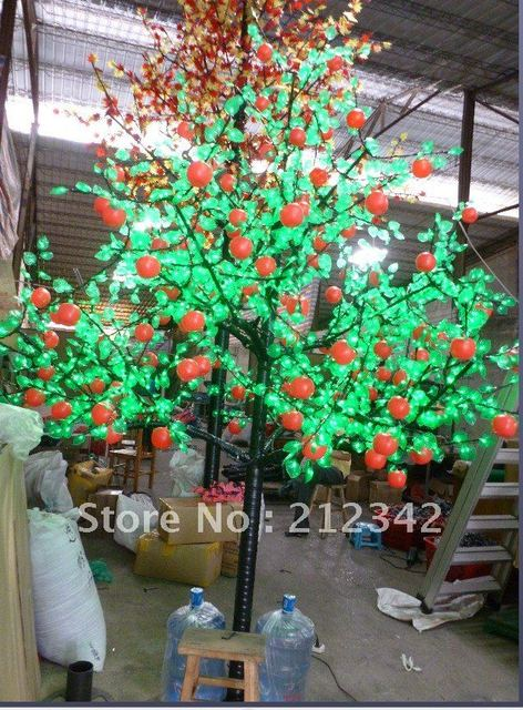 2.5m Height, 1500pcs LED Bulbs,  220VAC, LED Apple Tree Light!
