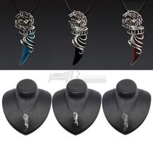 1pc High Quality Men Retro Stainless Steel Titanium Wolf Tooth Pendant Necklace, Vintage Wolf Tooth Pendant Necklace(China (Mainland))