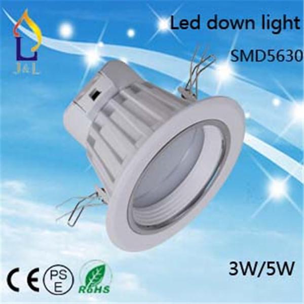 Free shipping 40pcs/lot Lighting SMD5630 LED down lighting 3W/5W7W/9W Led ceiling down light Led indoor light(China (Mainland))