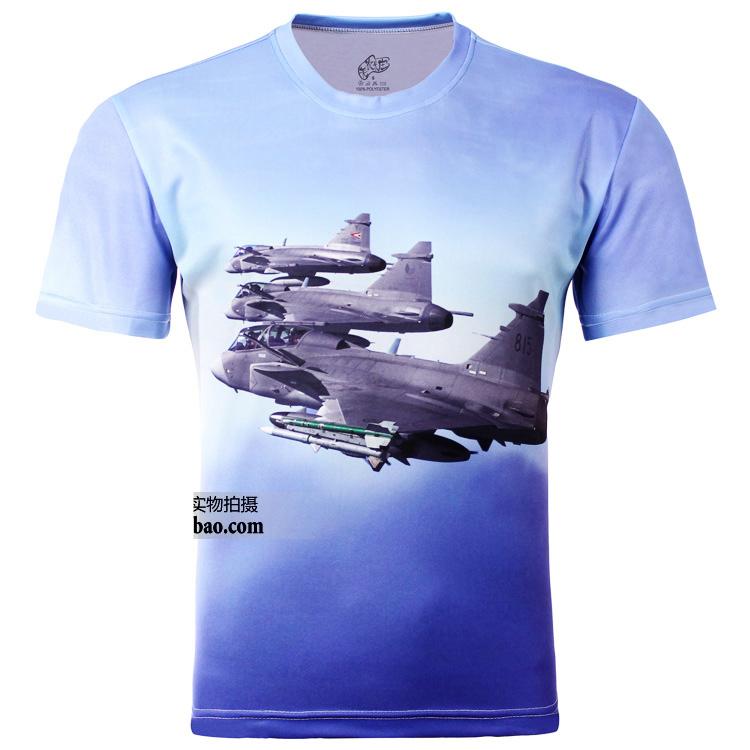 новые моды мужчин 3d t рубашка летняя борьба плоскости печати 3d футболки s-6xl