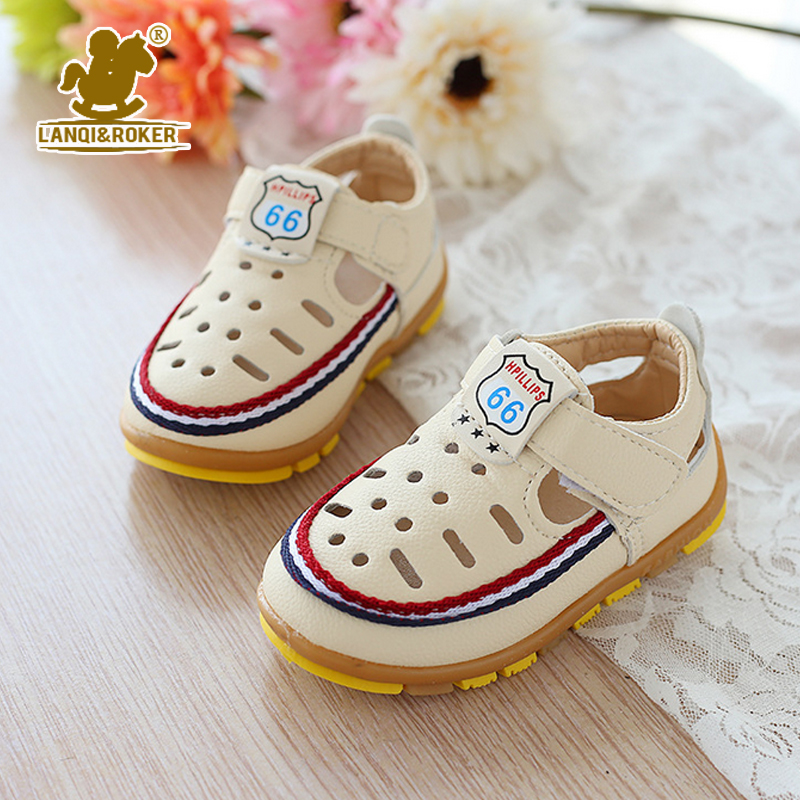 2016 New 3 Designs Boys Breathable Leather Sandals Baby Boys Summer Prewalker Soft Sole Child Girls Beach Sandals Size 21-25(China (Mainland))