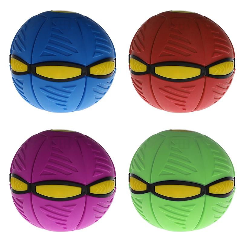 Flying UFO Flat Throw Disc Ball With LED Light Toy Kid Outdoor Garden Beach Game Begleri Kendama Stress Ball(China (Mainland))