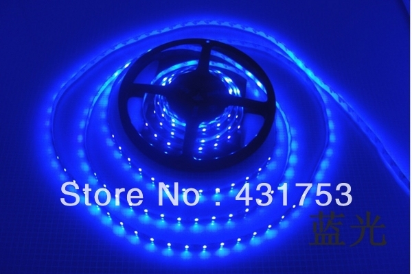 (Waterproof) 5m/lot 3528 5m 300 leds SMD Led Strip 60 Led per meter White/Warm white/Blue/Green/Red/Yellow (Free shipping)
