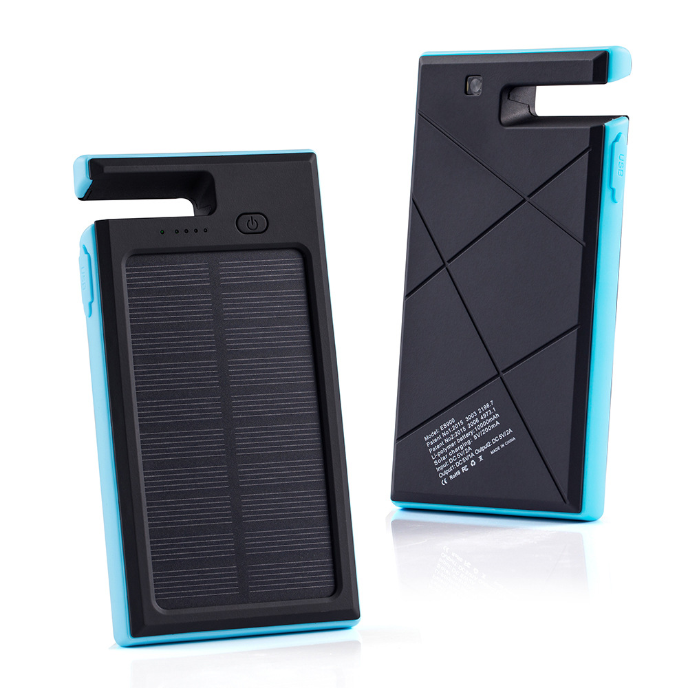 10000mAh solar powered support mobile power supply multi function dual USB solar energy mobile power supply(China (Mainland))