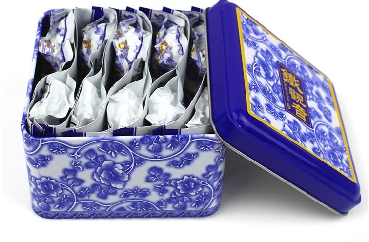 10pcs/ box China anxi tieguanyin oolong tea tie guan yin luzhou-flavor tieguanyin tea premium with blue and white porcelain gift(China (Mainland))