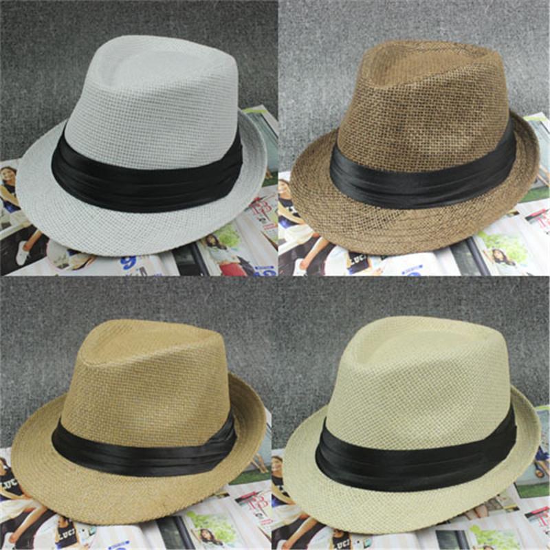 Vintage Fashion Men's Beach Hat Jazz Straw Hats For Men Summer Sun Cap Gorras Chapeu(China (Mainland))