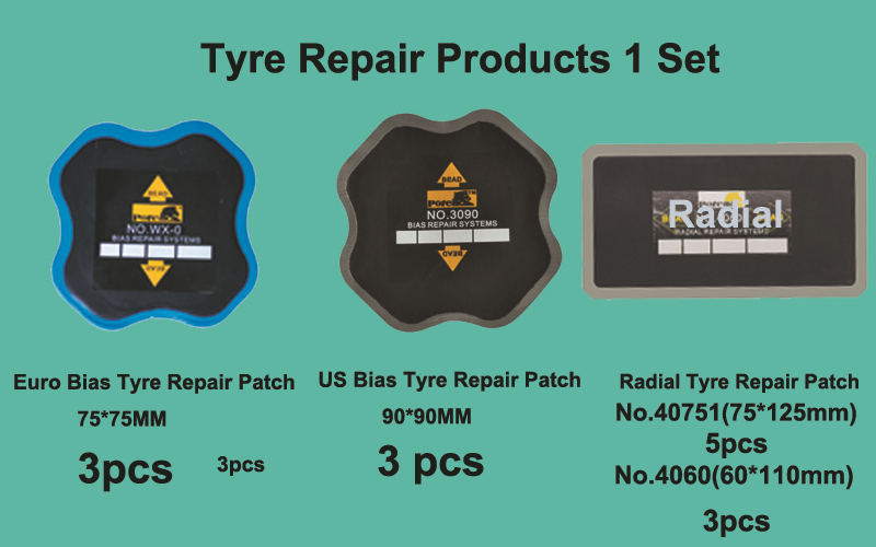 Bias Radial Tire Repair Patch/ Tyre Rubber Patch/cold Patch14pcs(China (Mainland))