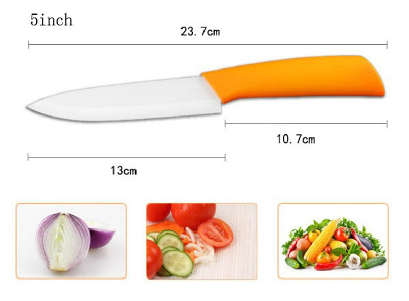 "Buy Durable Ceramic  Kitchen Knife set  Paring Fruit knife Utility Chef 3"" 4"" 5"" 6"" inch+Peeler+Acrylic Holder 6 set vegatable knife cheap"