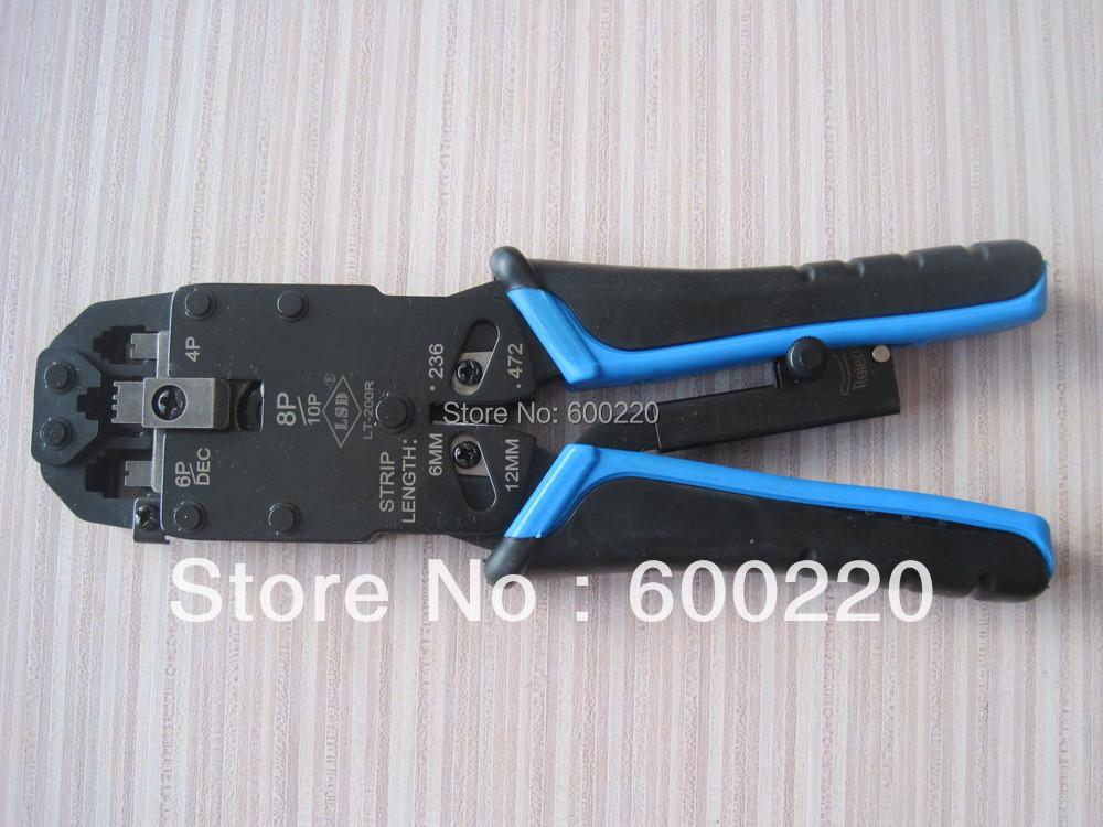 RJ45 crimping tool,Modular crimp tool,RJ10,RJ11/12 crimper network tool LT-200R(China (Mainland))