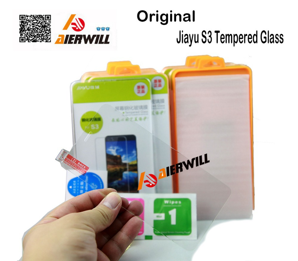 100% Original High Quality jiayu S3 Tempered Glass Screen Film Mobile Phone Protector Accessories + Free ship + tracking number(China (Mainland))