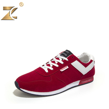 2016 Brand Famous Designer Suede Red Men Casual Shoes Walking New Fashion Outdoor Breathable Lace-Up Men Shoes zapatillas homber