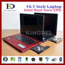 "8GB RAM+500GB HDD 14"" laptops computer with DVD-RW Intel Atom N2600 Dual Core CPU with bluetooth,WIFI,HDMI,Windows 7 from China"