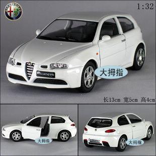 Alfa alfa romeo soft world 147 gta alloy car model toy(China (Mainland))