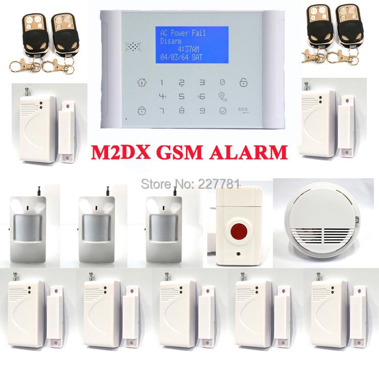 G69 M2DX Wireless GSM SMS PSTN Telephone Touch Keypad Home Burglar Alarm System Smoke Fire Emergency Alert<br><br>Aliexpress