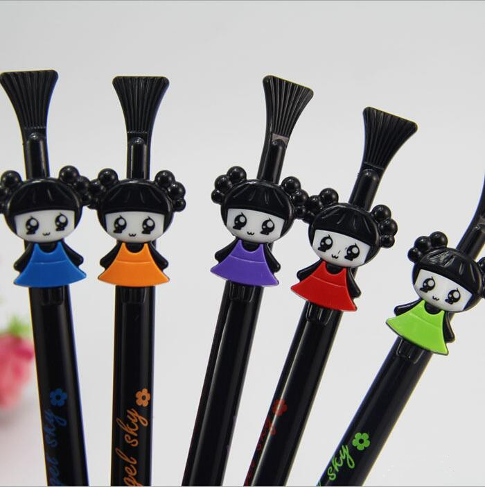 10pc/lot s Fashion Cute child Automatic pen mechanical pencil Activities of pen for school students writing 0.5mm pencil(China (Mainland))
