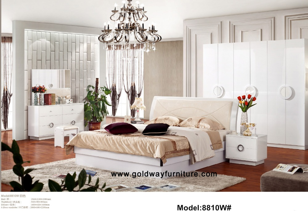 Plain Latest Bedroom Furniture Sale Leather Bed Double Modern
