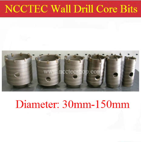 115mm diameter cabide wall hole drill core bits cutters + 110mm long square handle connection pole NCW115110S | FREE shipping