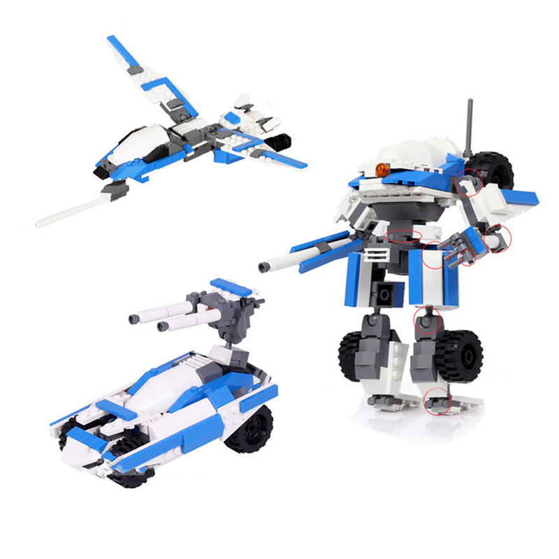 Interceptor DIY Model Building Kits Toy Pioneer Assault Vehicle Armored Robot Aircraft Assembly Building Blocks Gifts(China (Mainland))