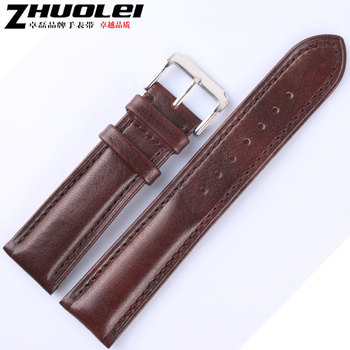 Advanced double faced genuine leather watch band soft watchstrap mens watch belt 18 20 22mm