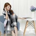 New Western Autumn And Winter Cashmere Men And Women Tartan Plaid Lengthen Thick Warm Air Permeable