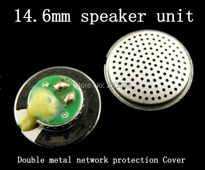Complex process Fever double metal mesh earphone unit 14.6mm earphone speaker Good analytical Subwoofer 32ohms(China (Mainland))