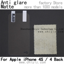 matte anti glare screen protector protective film for apple iphone 4s / iPhone 4 back only