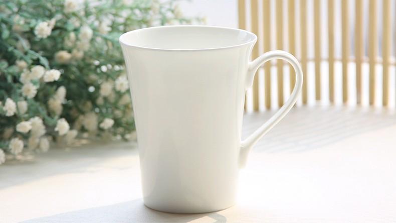 370ML, Bone china, white porcelain cup, white porcelain coffee mug, wholesale sublimation mugs, good quality(China (Mainland))