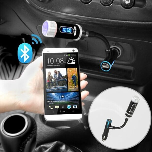 Streambot Y Wireless Bluetooth FM Transmitter Radio Adapter Handsfree Car Kit with Hands-Free Calling, Music Control(China (Mainland))