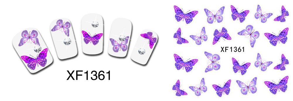 Beauty Butterfly Style Nail Art Sticker Nail Decal Manicure Tools Buy One Get Three Total 4 Pack(China (Mainland))