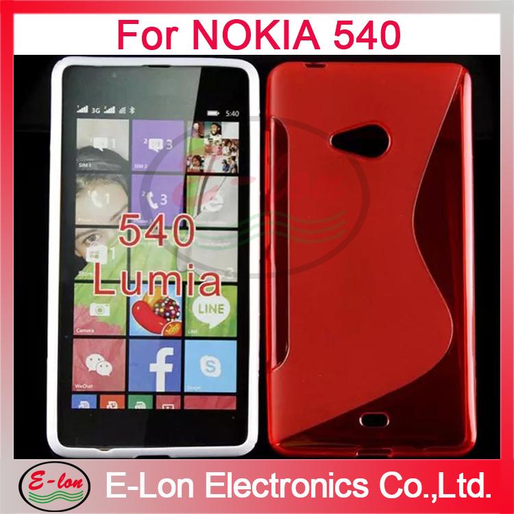 200pcs/lot Wholesale Soft TPU Gel S line Skin Cover Case for Nokia Lumia 540 M033SL(China (Mainland))