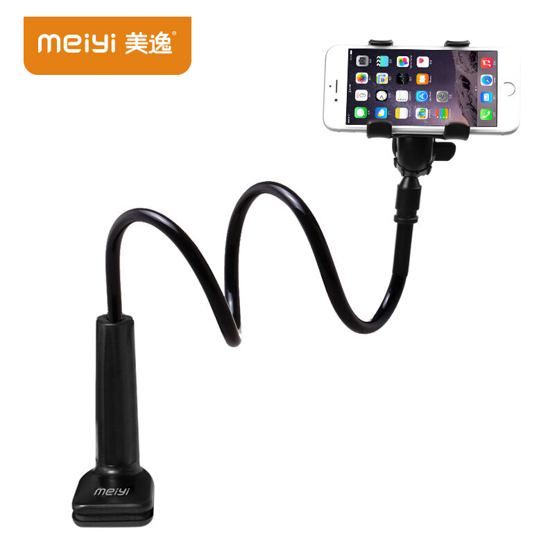 MEIYI 360 Degree Flexible Arm Mobile Phone Holder Stand For Iphone 6s 6 plus for Samsung S6 S5 under 6'' phones Black(China (Mainland))